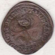 SOL De 15 DENIERS 1587 C (Saint Lô) HENRI III. Avec Contremarque Fleur De Lys. MONNAIE COLONIALE - Émissions Pré-Fédérales