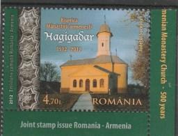 #197 HAGIGADAR MONASTERY, ROMANIA - ARMENIA, 2012, MNH**, ONE STAMP, ROMANIA. - 1948-.... Républiques