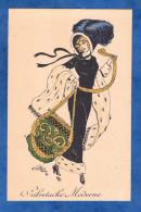 CPA Illustrée Par NAILLOD - Sabretache Moderne - RARE - Femme élégante Chapeau Fashion Mode Robe Dress Woman Design Hat - Naillod