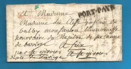 France - LAC De PARIS Du 20/10/1825 - P.P. BUREAU DE LA COUR - PORT.PAYE - - 1801-1848: Precursors XIX