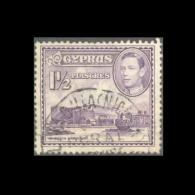 CYPRUS LIVADHIA (NICOSIA) G.R. RURAL SERVICE POSTMARK ON KGVI STAMP - Chipre (...-1960)