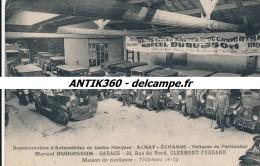 CPA 63 CLERMONT FERRAND Carte Très Rare Garage Marcel DUBUISSON Recto Verso Avec Timbre Fiscal Et Signature Du Garagiste - Clermont Ferrand