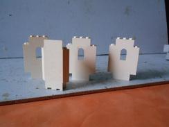 Légo  Lot De  Demi Pièce D'angle De Chateau Blanche - Lego System