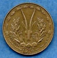 R7/  WEST AFRICAN STATES / AFRIQUE OUEST  5 FRANCS 1974 - Monnaies