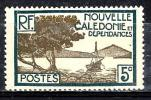 NOUVELLE CALEDONIE 142** 5c Bleu-vert Et Gris-olive Baie De La Oointe Des Palétuviers - New Caledonia