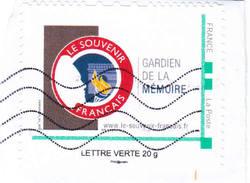 Gardien De La Memoire Le Souvenir Français  Mon Timbre à Moi - Personalized Stamps (MonTimbraMoi)