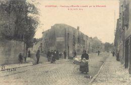 54  LUNEVILLE FAUBOURG D'EINVILLE INCENDIE PAR LES ALLEMANDS  EN 1914 ANIMATION LANDEAU - Luneville