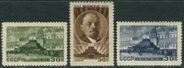 USSR 1947. SC#1015/17 VF/MNH. January 22. 23 Years Since The Death Of V.I. Lenin (B-13)