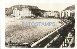 59074 BRAZIL BRASIL RIO DE JANEIRO FLAMENGO VIEW PARTIAL MORRO PHOTO NO POSTAL TYPE POSTCARD - Fotografía
