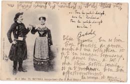 """M & Mme Théodore BOTREL Interprétant """"Par Le Petit Doigt"""" - Personnages"""