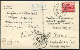 1954 Hungary Budapest Postcard - Hungarian Diplomatic Legation Peking China