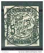 OBLITERATION SAIGON CENTRAL (COCHINCHINE) 19.04.1892 YVERT COLONIES TT 5