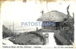 59081 CHILE SANTIAGO CAMINO AL HOTEL DE SAN CRISTOBAL SPOTTED POSTAL POSTCARD - Chili