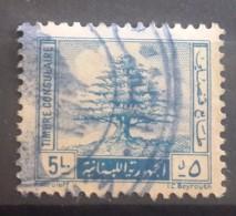 E11r Lebanon 1960 Consular Revenue Stamp - Cedar Square Format, 5L Blue - Lebanon