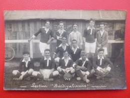 FOOTBALL SECTION BURDIGALIENNE CARTE PHOTO 1923 - Football