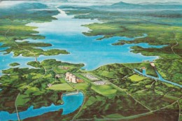 South Carolina Clemson Duke Power's Keowee-Toxaway Project Aerial View - Clemson