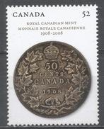 Canada 2008. Scott #2274 (MNH) Royal Canadian Mint, Cent. 1908 Fifty-cent Coin - Neufs