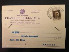 CARTOLINA POSTALE PUBBLICITARIA-MARGHERA-SOCIETA'FRATELLI PILLA-DISTILLERIA  E FABBRICA DI LIQUORI- E SCIROPPI- - 4. 1944-45 Repubblica Sociale