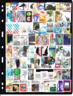 Netherlands Collection Of 128 Different Used Stamps From 1980-1994 Catalogue $30+ - Timbres