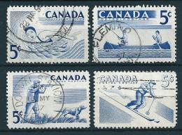 Kanada 1957  Sport (4 Werte Kpl)  Mi-Nr. 312/15  Gestempelt / Used