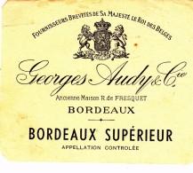 Etiquette  De Vin - BORDEAUX  Georges AUDY & Cie - Unclassified