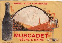 """Etiquette  De Vin  - MUSCADET -""""SEVRE & MAINE """" - Unclassified"""