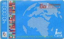 Mobilecard Laos - Erdkugel  - Fahnen , Flaggen