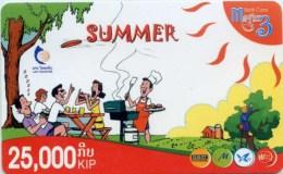 Mobilecard Laos - Sommer - Grillen - Laos