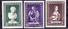 POLOGNE 1956 YT N° 878 à 880 * - 1944-.... Republic