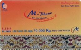 Mobilecard Laos - Tradition - Ornamente - Laos
