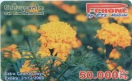 Mobilecard Laos - Blumen, Flowers (4) - Laos