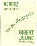"""""""GIBERT JEUNE SUR LES QUAIS DEPUIS 1886  """" - Buvards, Protège-cahiers Illustrés"""
