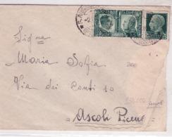 Lettera In Tariffa  Con Valori Gemelli    1941          C821 - 1900-44 Victor Emmanuel III.