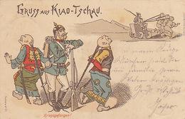 Kriegsgefangen - Gruss Aus Kiao-Tschau - Litho - 1898      (161009) - Guerres - Autres