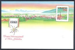 San Marino 1990 Postal Stationary Cover; Flora Flowers Fleur Blume Flor: Edelweiss; Assiago - Pflanzen Und Botanik