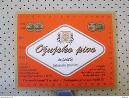 Croatia Beer Label OZUJSKO - Bierdeckel