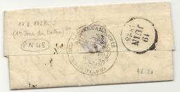 Bouches Du Rhone - Marseille Pour Un Ingénieur De La Marine à Toulon (Var). LAC De 1828 - Postmark Collection (Covers)