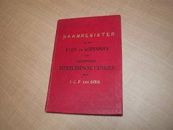 Naamregister Op Het Stam-en Wapenboek Van Aanzienlijke Nederlandse Familiën - Books, Magazines, Comics