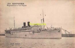 CPA  S S  KOUTABIA PAQUEBOT DE LA CIE PAQUET - Dampfer