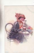 Frau Am Telefon - Sign    (161009) - Otros Ilustradores