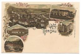 POST CARD GRUSS AUS HERISAU - CANTON APPENZELL - EXTERIEURES . - AR Appenzell Outer-Rhodes
