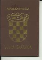 CROATIA    --  VOJNA ISKAZNICA,  MILITARPASS, SOLDBUCH, MILITARY PASS - Dokumente