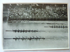 OLYMPIA 1936 - Band II - Bild Nr 113 Gruppe 58 - Ligne D'arrivée Aviron à Huit, USA Italie Allemagne - Sports