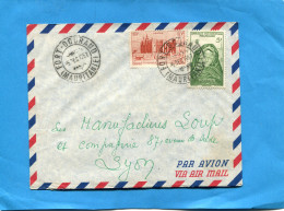 MARCOPHILIE-  Lettre Mauritanie >Françe Cad  1957 Fort Gourou -2-stamp A O F