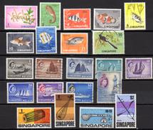 Dépareillés Neufs, Entre 52A Et 106**et Oblit, Cote 30 €  Poissons Fish - Singapore (1959-...)