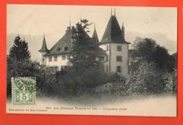 FIC-13  Echandens, Le Château. Série Les Châteaux Vaudois. Cachet Frontal Bussigny 1907 - VD Vaud