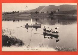 FIC-18  Barques Sur Le Lac De Bret, Puidoux. TRES ANIME. Cachet Chexbres 1909 - VD Vaud