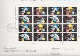 DDR 2364 - 2367, Kleinbogen FDC, Zirkuskunst 1978