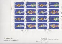 DDR 2468 - 2471, Kleinbogen FDC, Meissener Porzellan 1979
