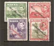 Malta - Yvert 203, 205, 207, 209 (usado) (o) - Malta
